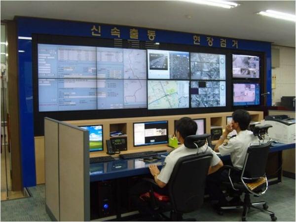Korean Police Station Hiperwall